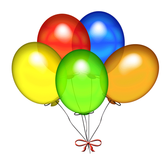 550x526 Birthday Balloons Clipart