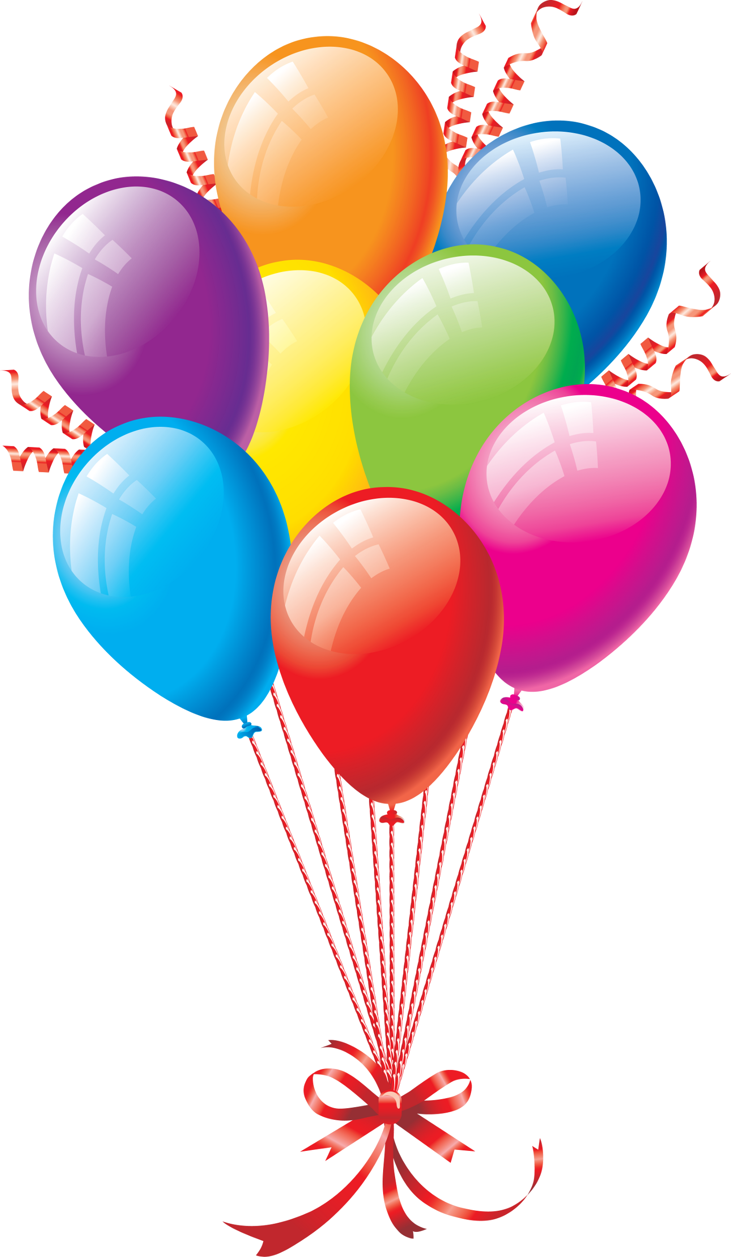 1454x2500 Birthday Balloons Png Clipart Best