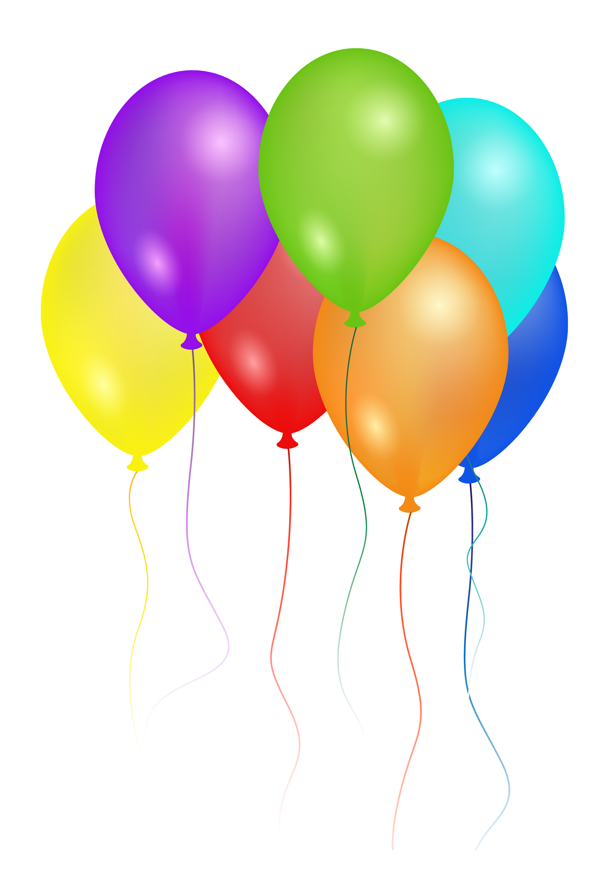 2150x3058 Birthday Party Balloons Png Image