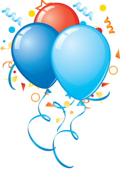 240x340 Birthday Party Balloons Png