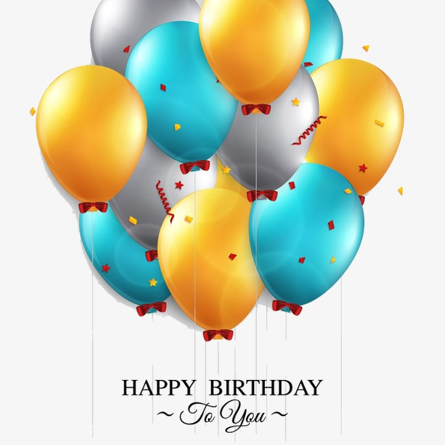650x650 3d Cartoon Balloon, Birthday, Balloon, 3d Cartoon Png Image