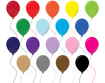340x270 On Sale Balloons Clip Art Instant Download Digital Clip Art