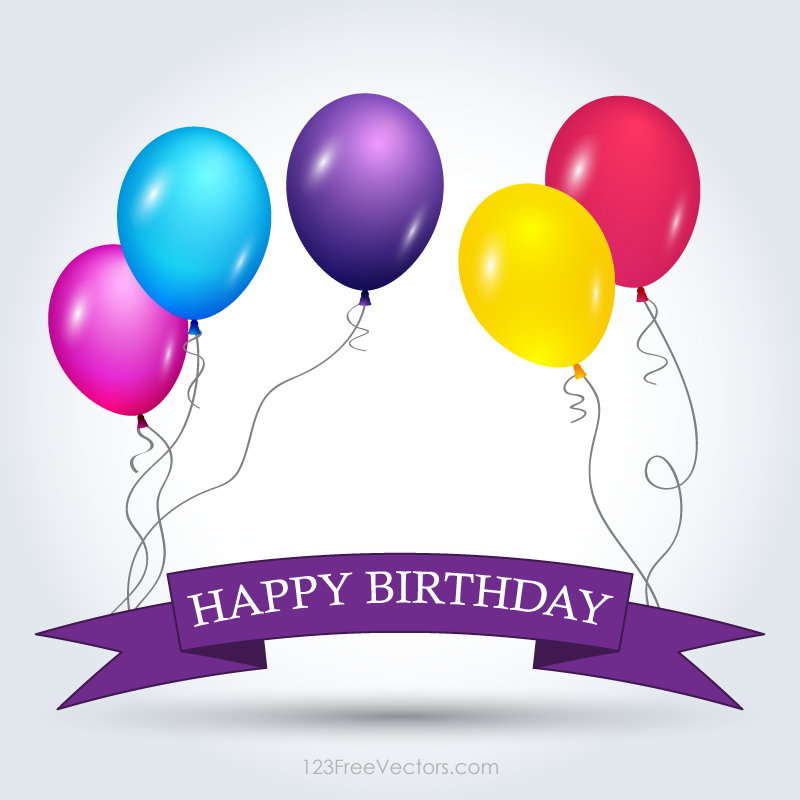800x800 Happy Birthday Banner Vectors Download Free Vector Art