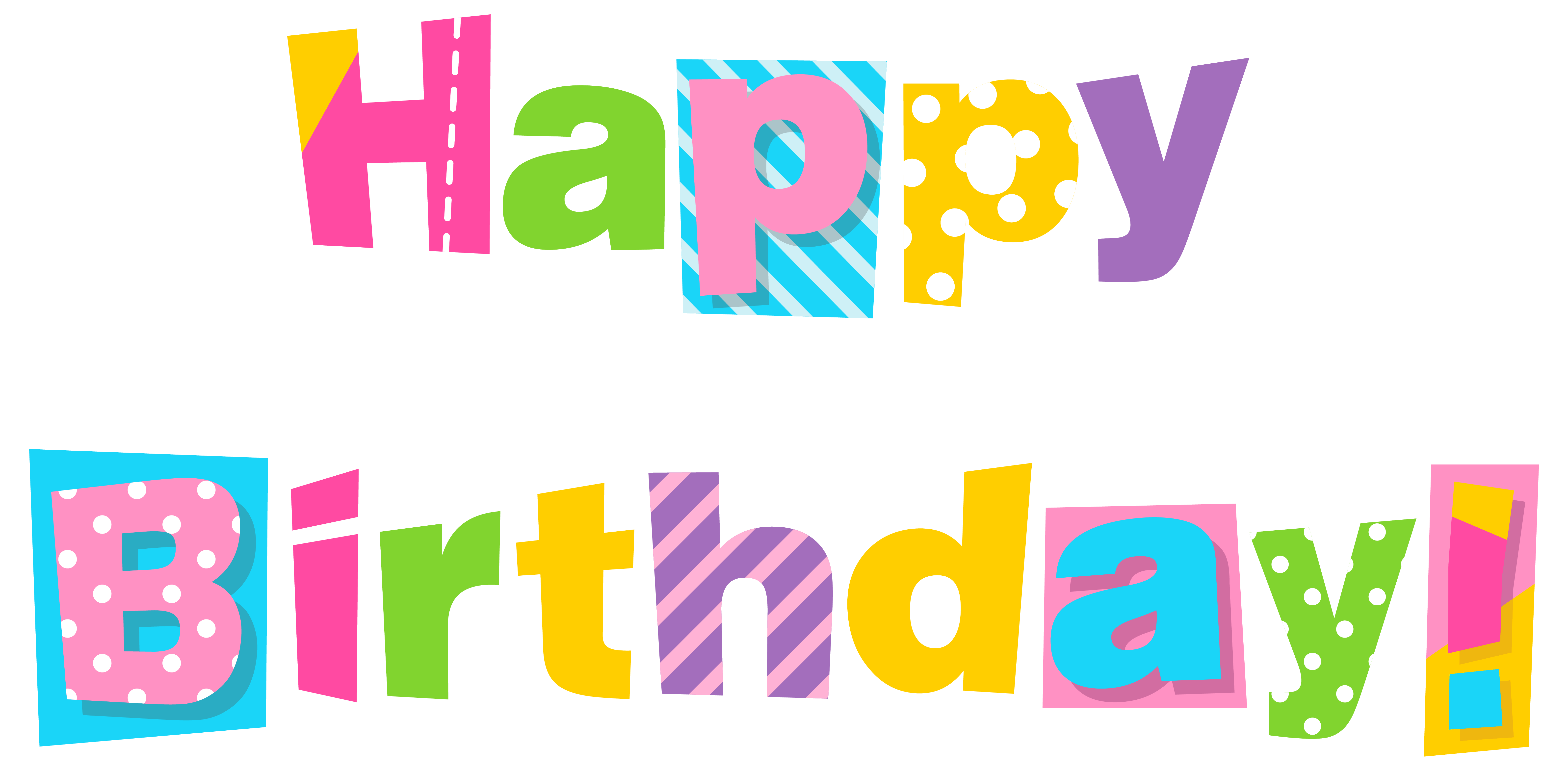 6332x3114 Happy Birthday Banner Clip Art Free Clipart Images