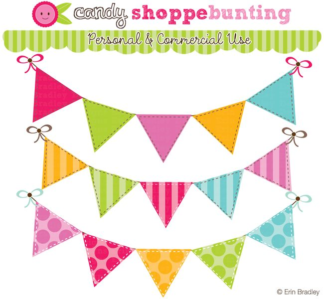 650x600 Bunting Clipart Pennant Banner