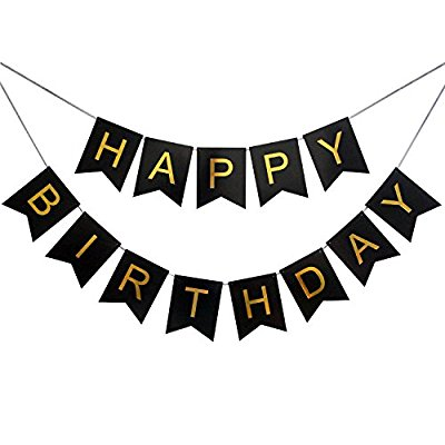 400x400 Happy Birthday Banner Clipart Black And White