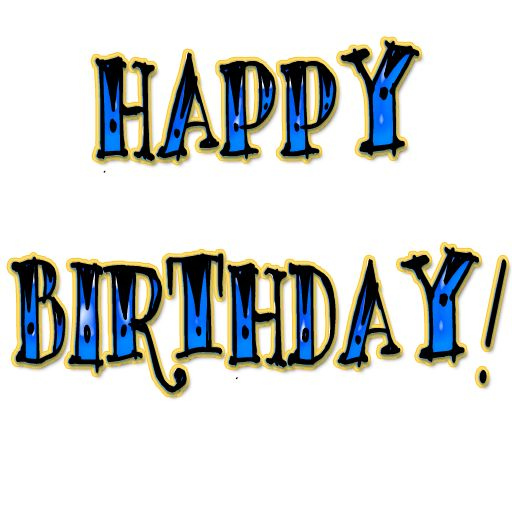 512x512 Happy Birthday Text Clipart