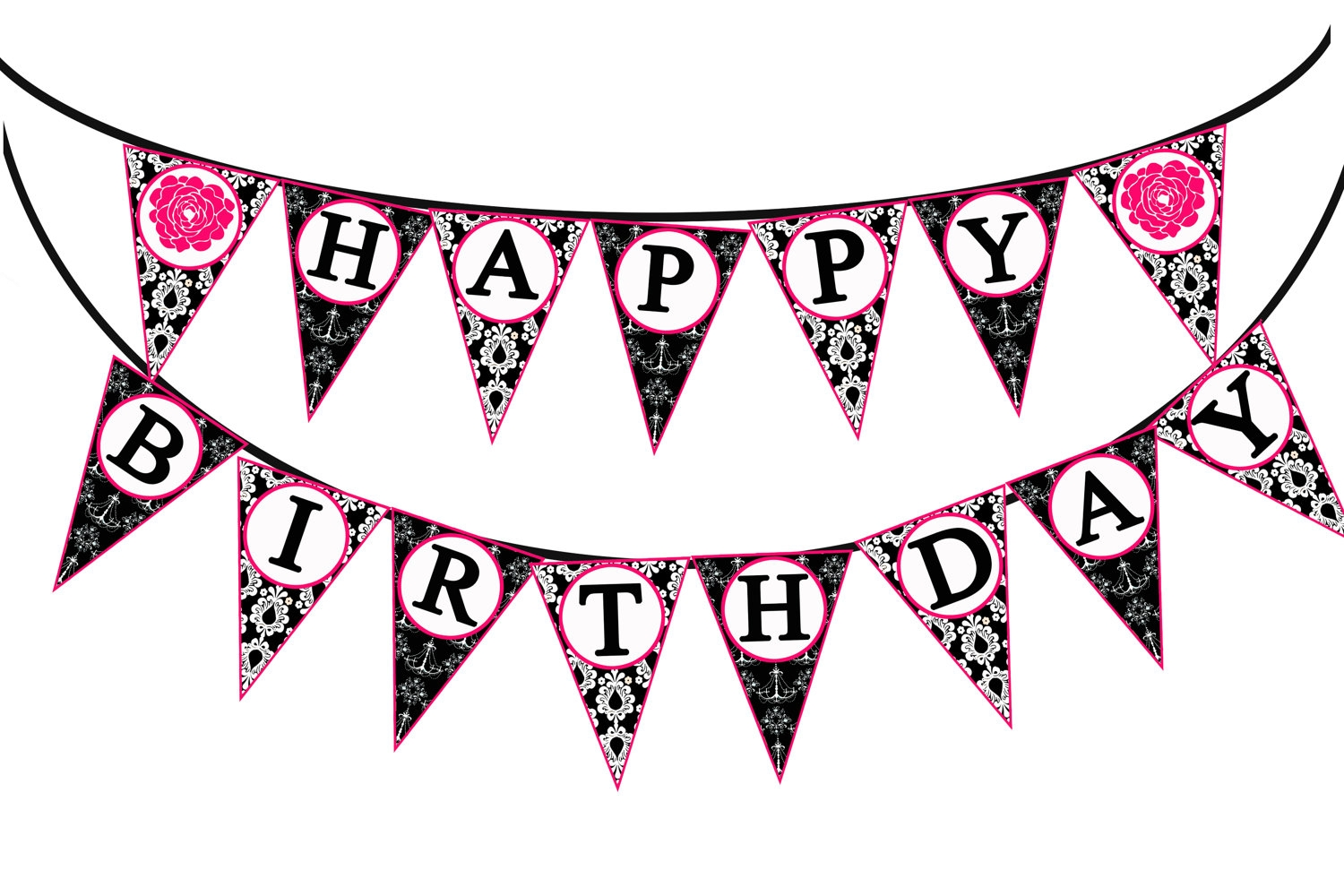 1500x1000 Red Flag Banner Clipart Birthday Clip Art