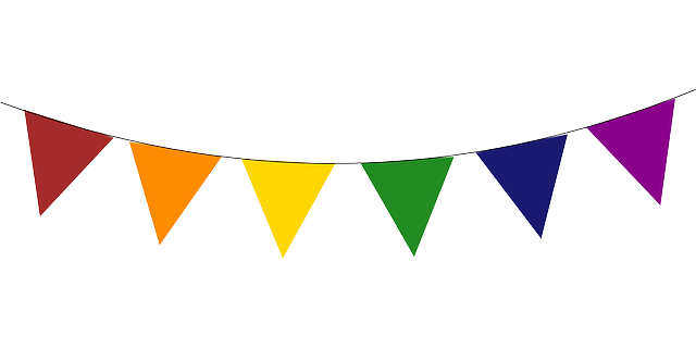 640x320 Triangle Clipart Birthday Flag Banner