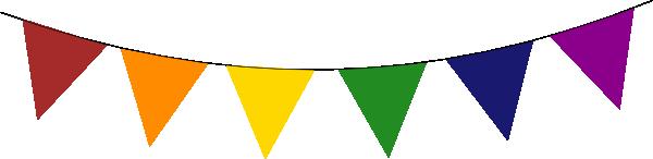 600x146 Rainbow Banner Clipart