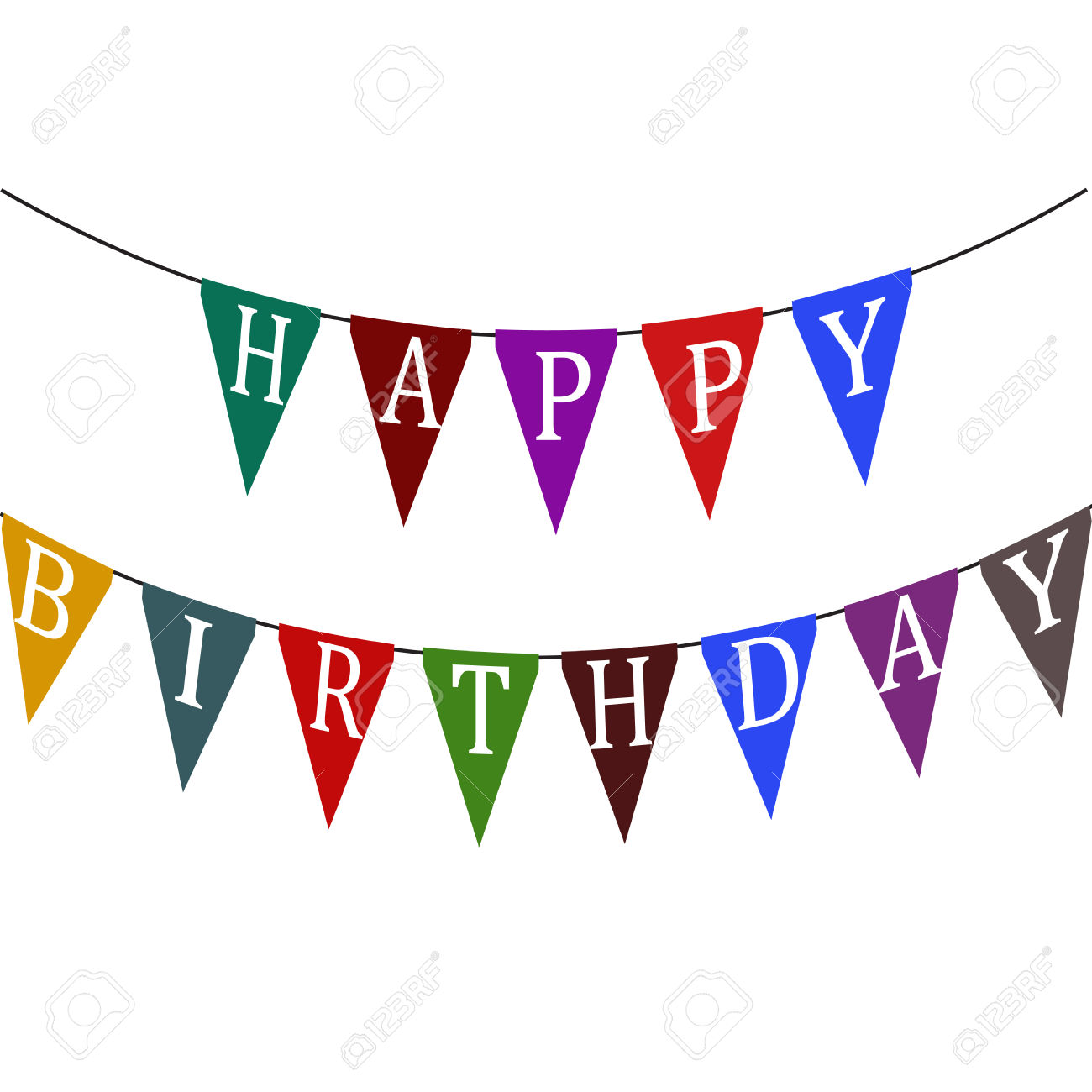 1300x1300 Birthday Flag Banner Clipart