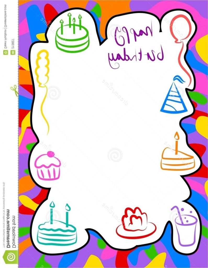 795x1024 Best Free Birthday Border Templates Quotes File