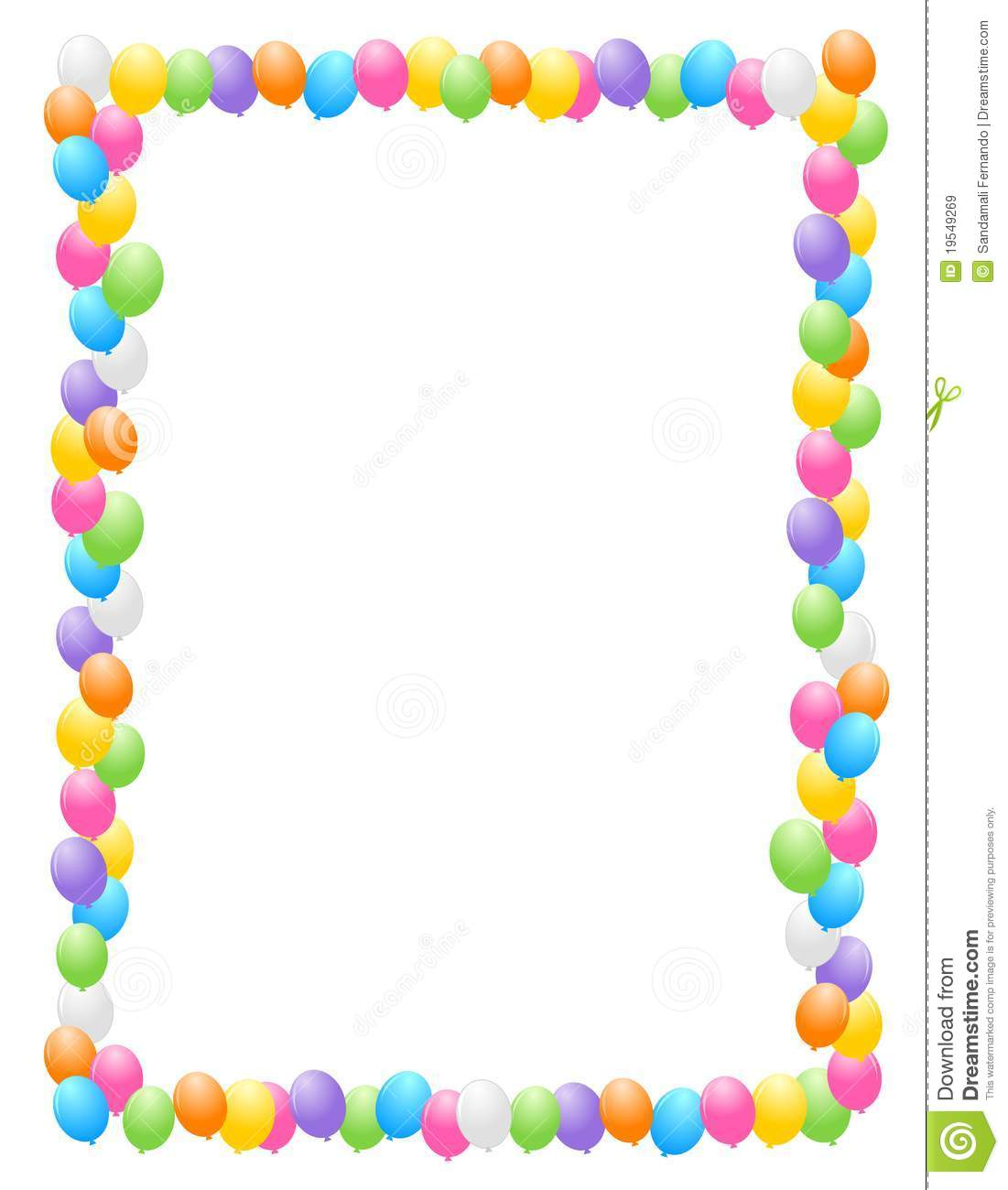 1101x1300 Birthday Balloon Border Clipart