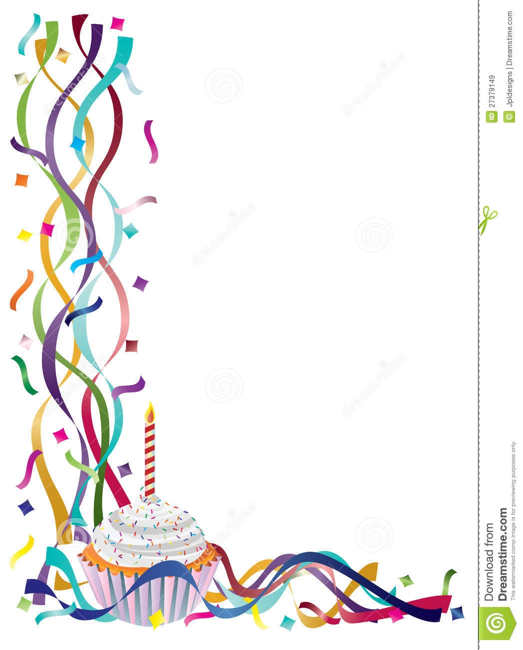 1047x1300 Birthday Borders Clipart