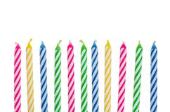 242x160 Birthday Candle Border Clipart