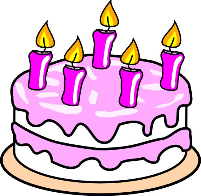 650x634 Birthday Cake Clipart