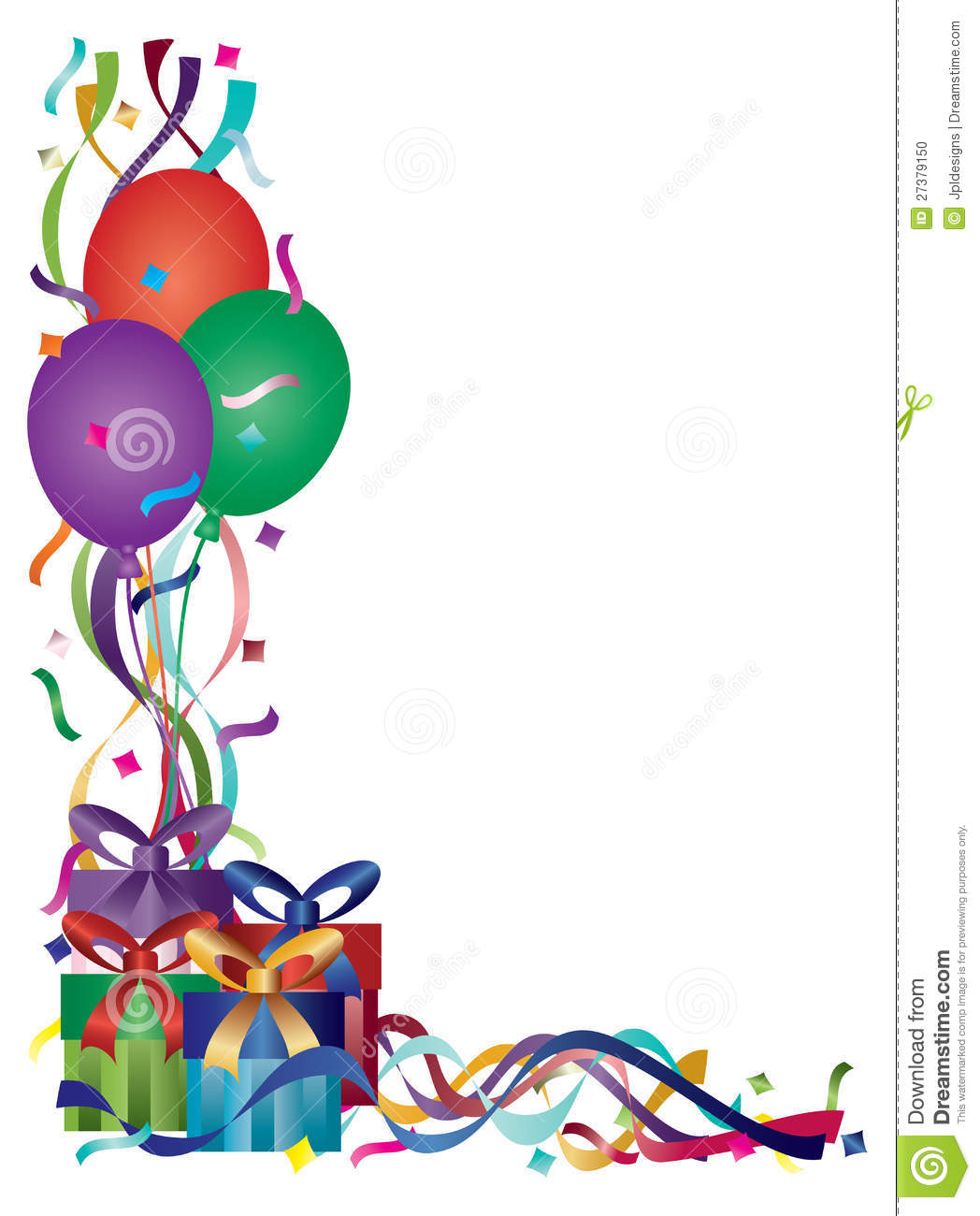 1048x1300 Birthday Clip Art Borders