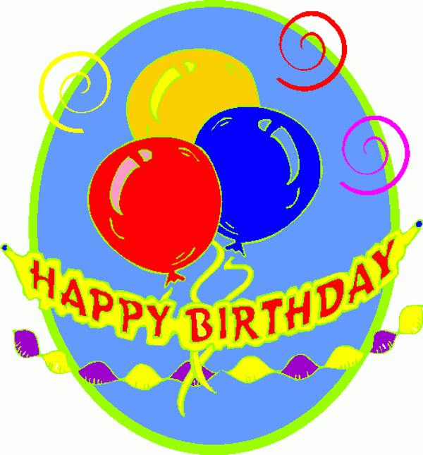 600x645 Clip Art Happy Birthday Animated