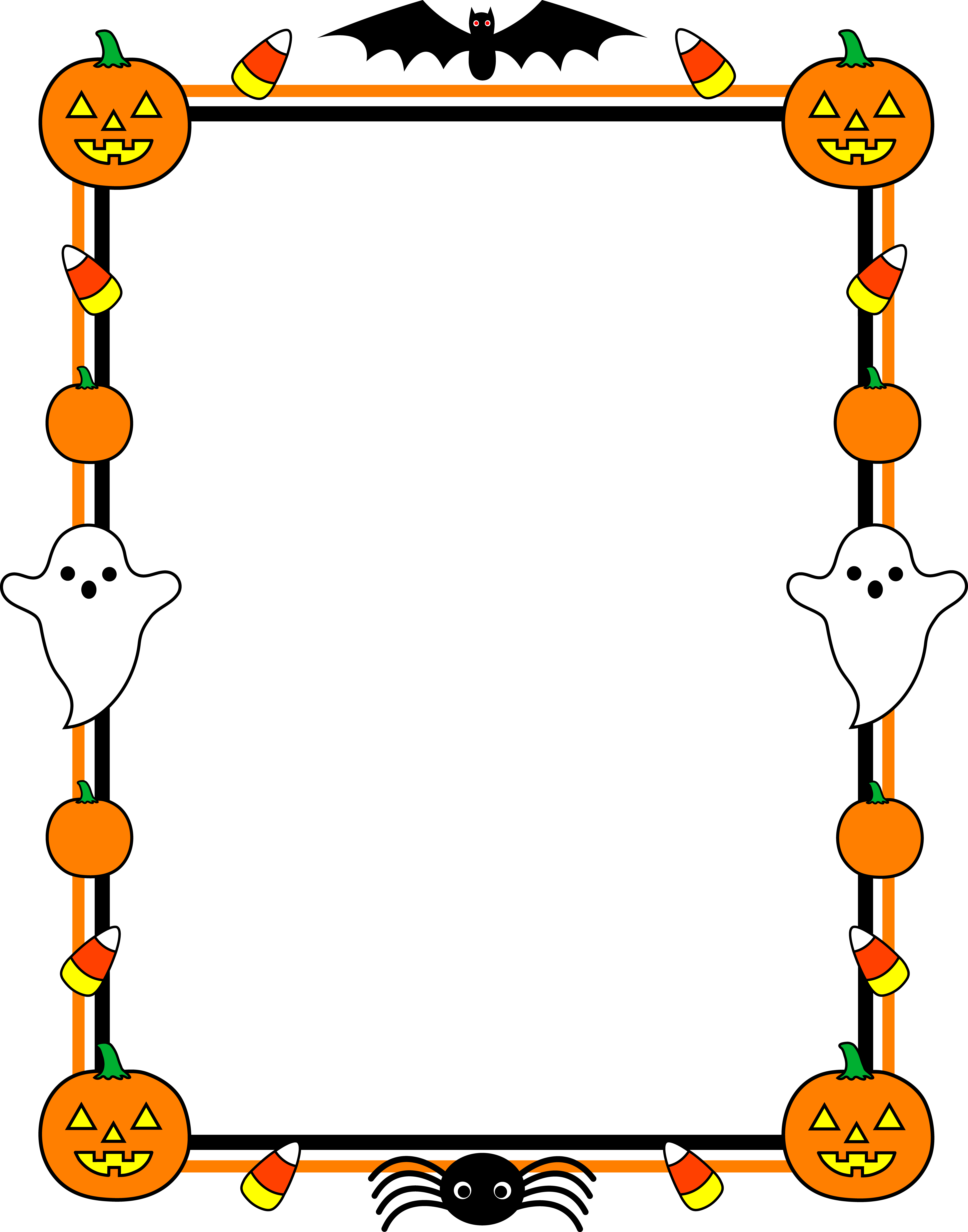 6655x8464 Cute Halloween Border Frame