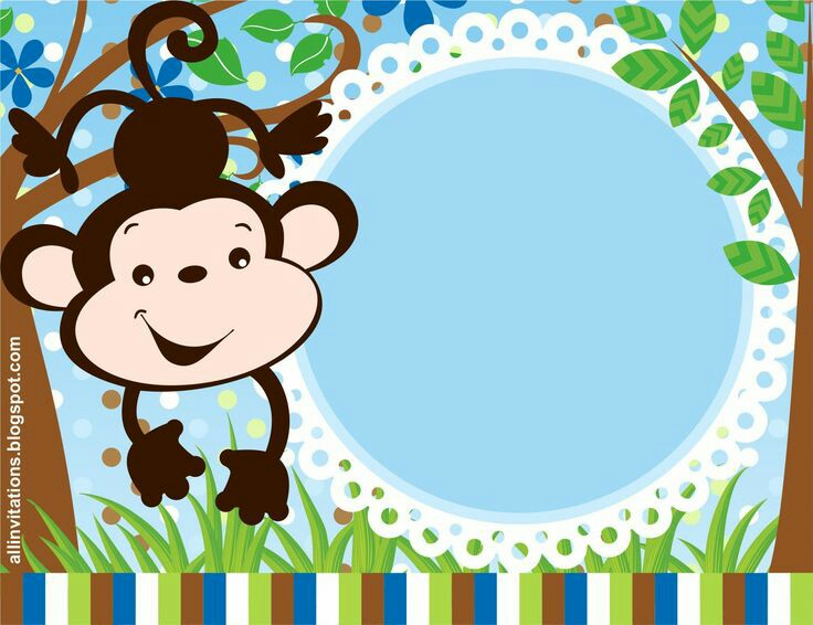 736x566 Monkey border Monkey birthday party Monkey, Clip