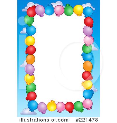 400x420 Balloon Bottom Border Clipart