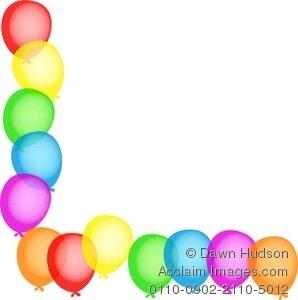 298x300 Birthday Party Clipart Border