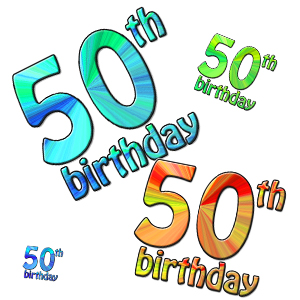300x300 50th Birthday Border Clipart