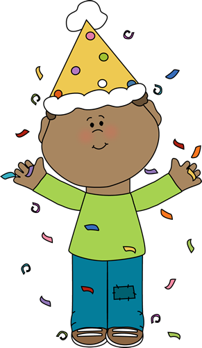 291x500 Birthday Boy With Confetti Clip Art