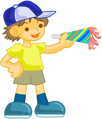 340x397 Birthday Party Boy clip art