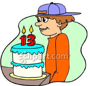 300x289 Birthday Cake Boy Clipart