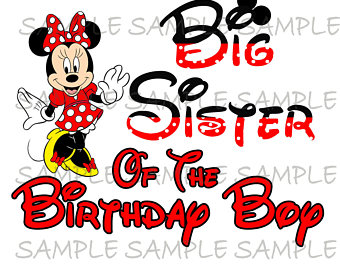 340x270 Godmother Of The Birthday Boy Minnie Mouse Iron On Image Mouse