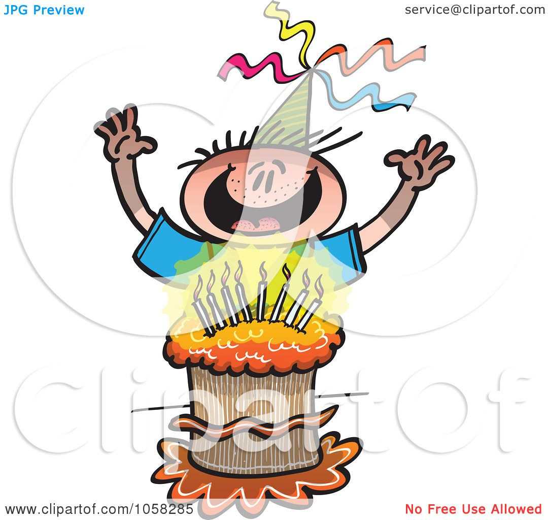 1080x1024 Royalty Free Vector Clip Art Illustration Of A Happy Birthday Boy