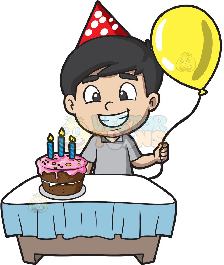 864x1024 The Proud Birthday Boy Cartoon Clipart