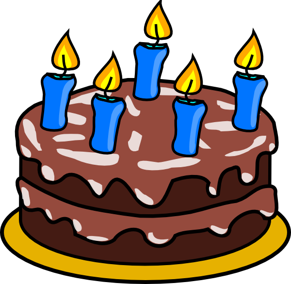 600x586 Birthday Cakes And Candles Clipart