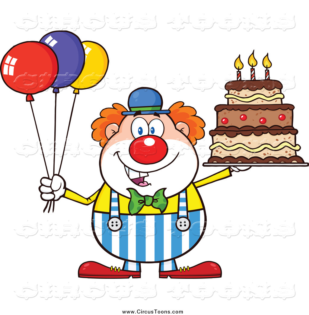 1024x1044 Circus Clipart Of A Happy Chubby Clown With Colorful Balloons