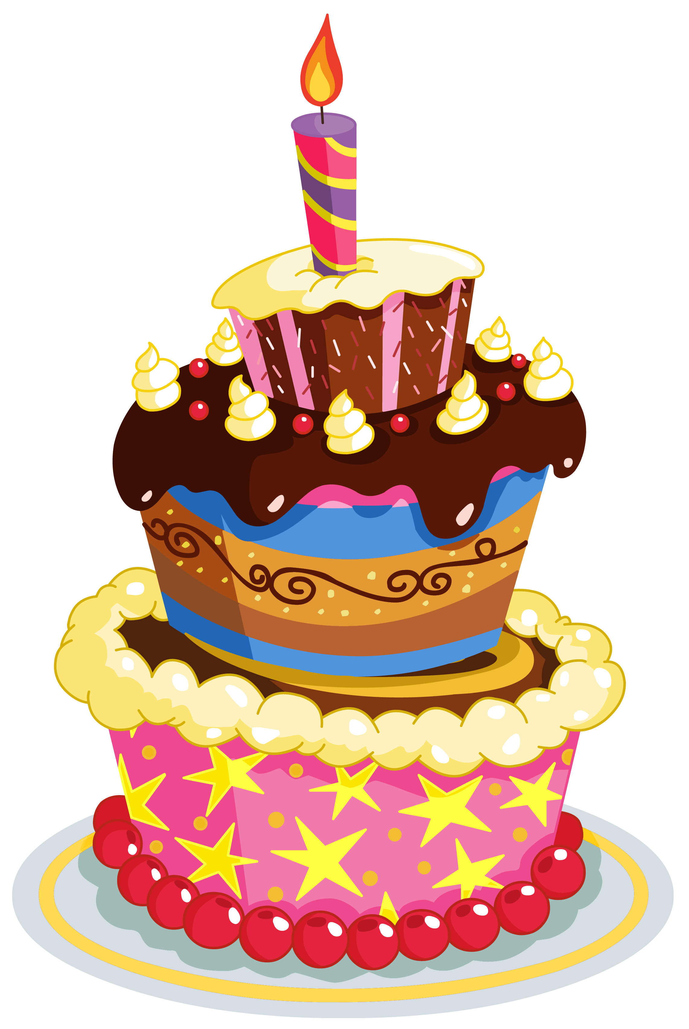 2282x3405 Colorful Birthday Cake Clipart Happy Birthday