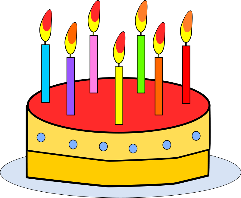 800x657 70 Birthday Cake Candles Clipart