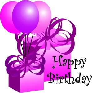 297x300 Purple Clipart Birthday Cake