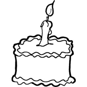 300x300 Birthday cake clip art black and white for You