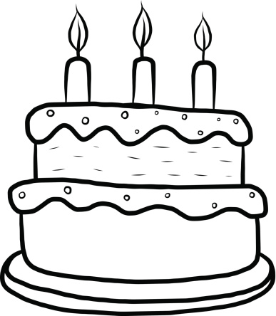 387x444 Birthday cake outline clip art