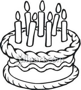 270x300 Black and white birthday clipart