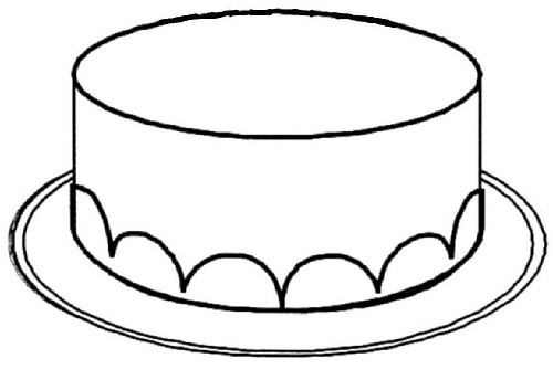 500x334 Cake black and white cake clipart without candles black and white