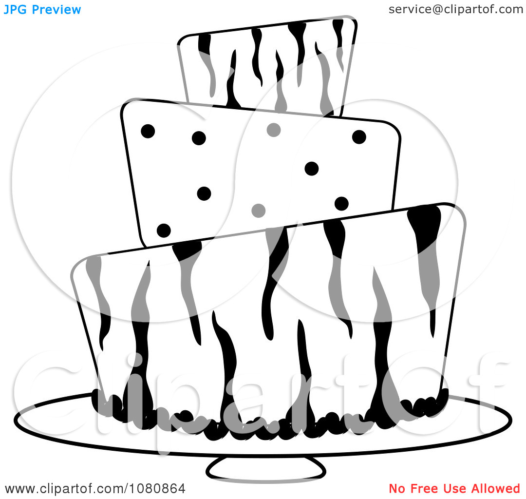 1080x1024 Clip Art Black And White Tiered Cake Clipart
