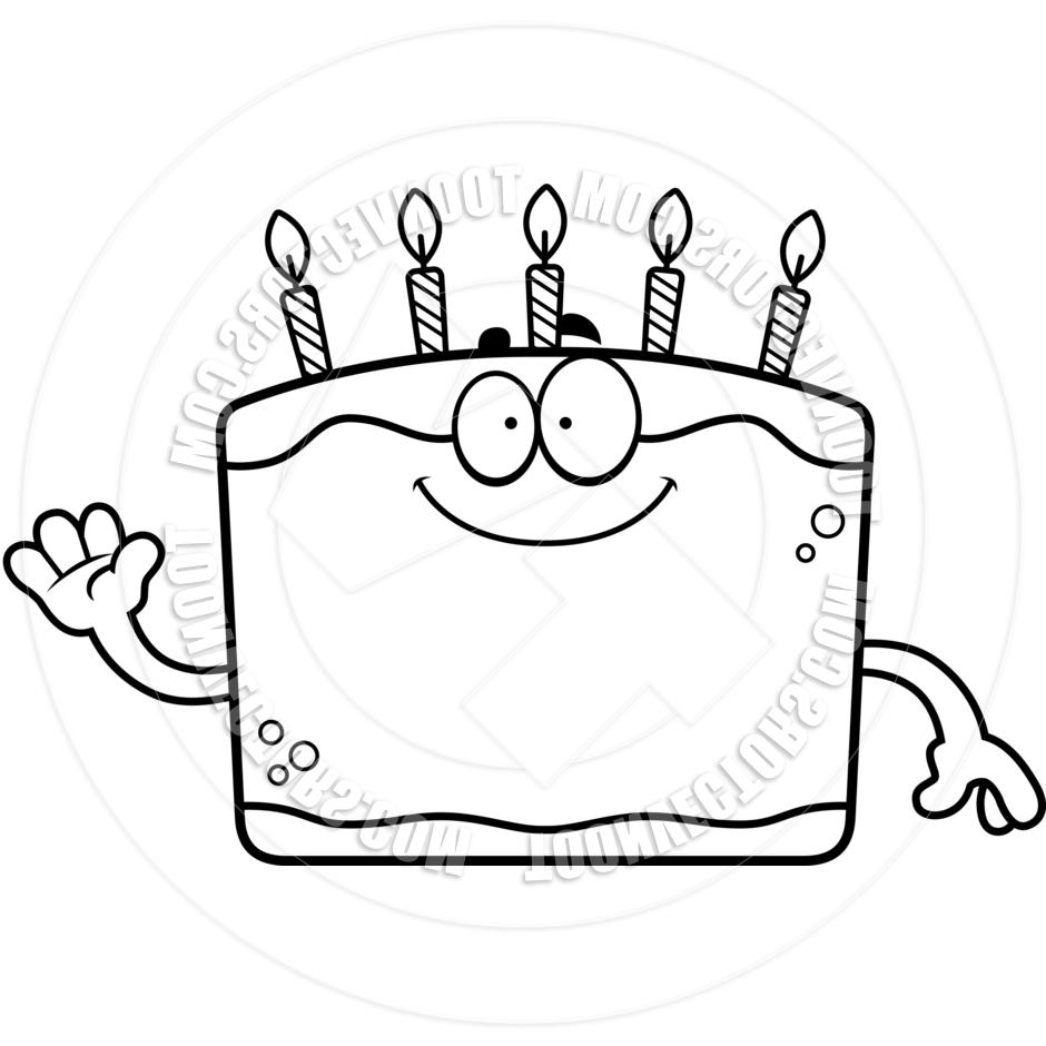 940x940 Best Birthday Cake Waving Clip Art Black And White File Free