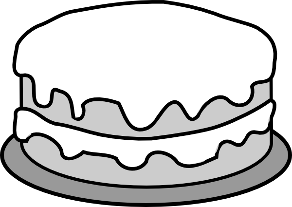 600x425 Vector and birthday cake clipart black and white free 1