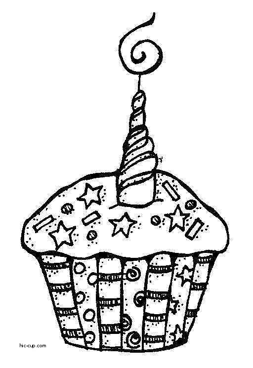512x745 Birthday Cakes Luxury Birthday Cake Clipart Black and White Fr