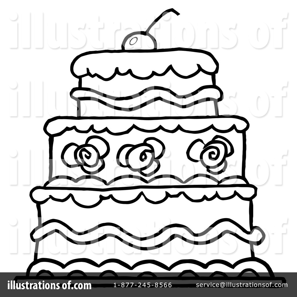 Birthday Cake Clipart Black And White Free Download Best Birthday