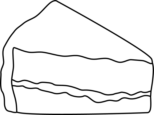 500x376 Cake black and white black and white slice of cake clip art