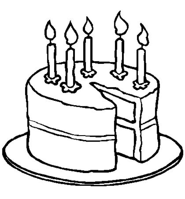 640x689 Cake Clipart Coloring Book