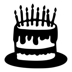 300x300 Cake Clipart Silhouette